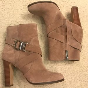 Vince Camuto Suede Booties - barely worn - size 8